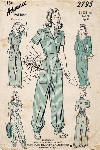 Advance 2795 A | Vintage Sewing Patterns | FANDOM powered by Wikia