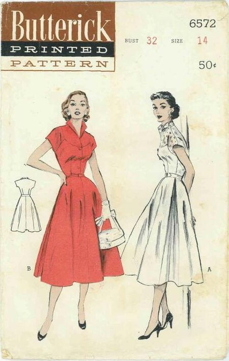 Butterick 6572 | Vintage Sewing Patterns | FANDOM powered by Wikia