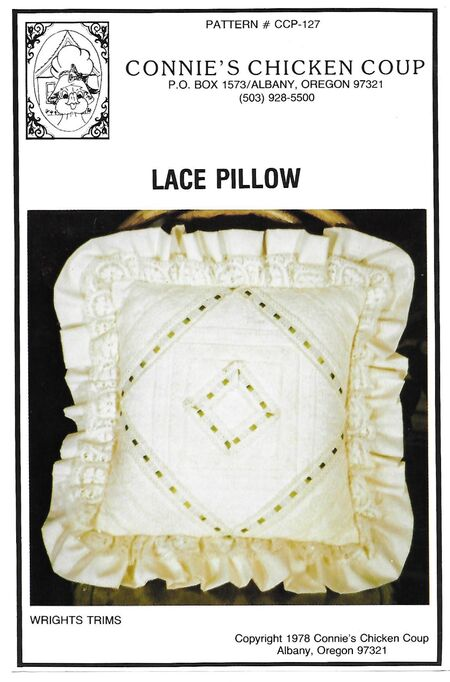 Lace pillow front