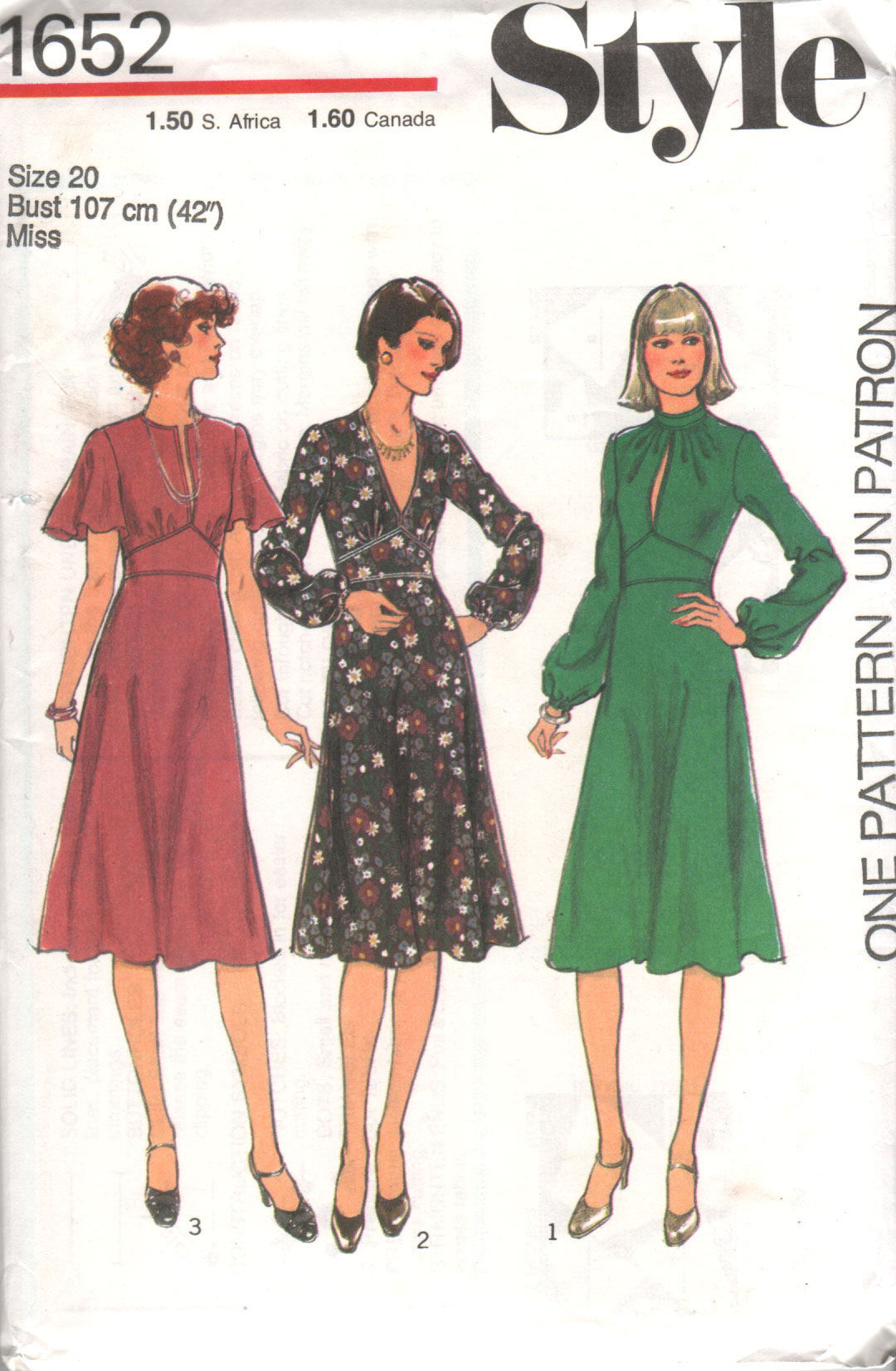 Style 1652 | Vintage Sewing Patterns | FANDOM powered by Wikia