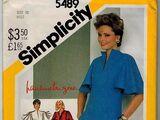 Simplicity 5489 A