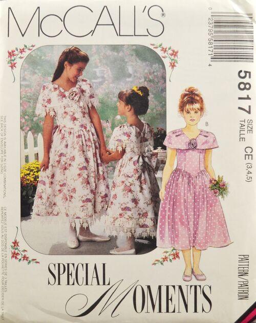 McCall's 5817 Girls' Dress 1