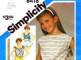Simplicity 6418 B