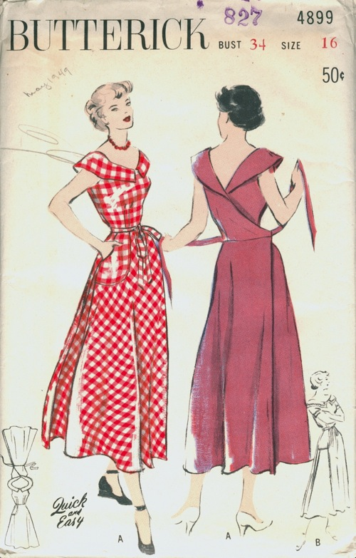 Butterick 4899   Vintage Sewing Patterns   FANDOM powered by Wikia