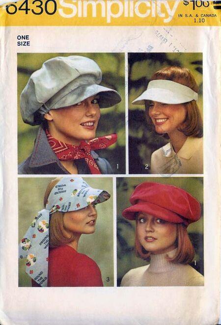 W6430s 1974 Hats
