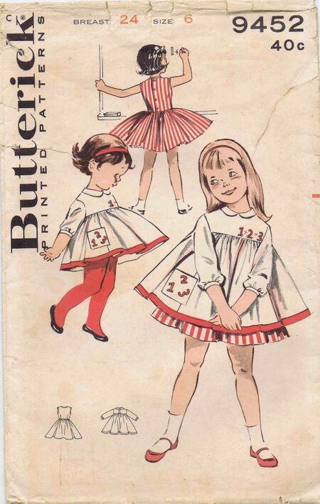Butterick 1960 9452