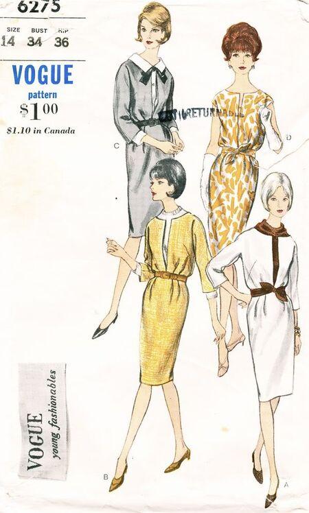 6275V 1960s Dress