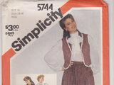 Simplicity 5744 A