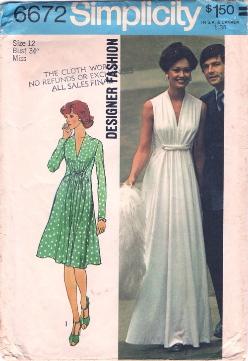 Patron robe de soiree vintage