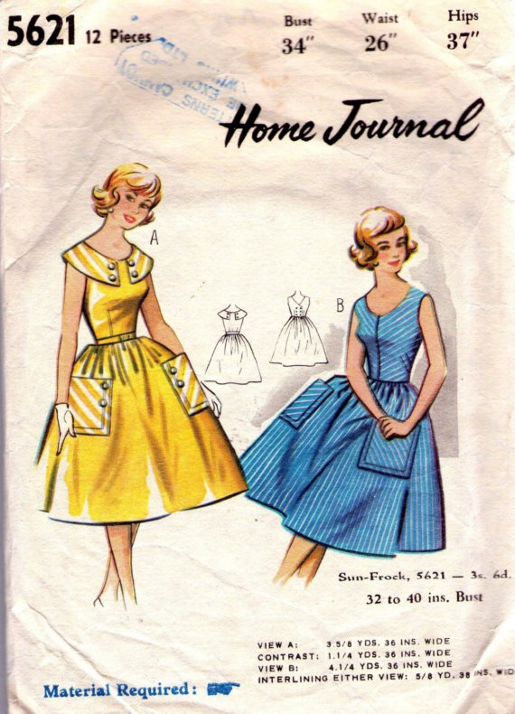 Australian Home Journal 5621 | Vintage Sewing Patterns | FANDOM ...