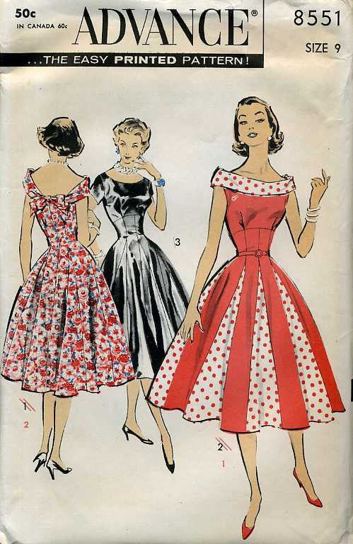 Advance 8551 | Vintage Sewing Patterns | FANDOM powered by Wikia