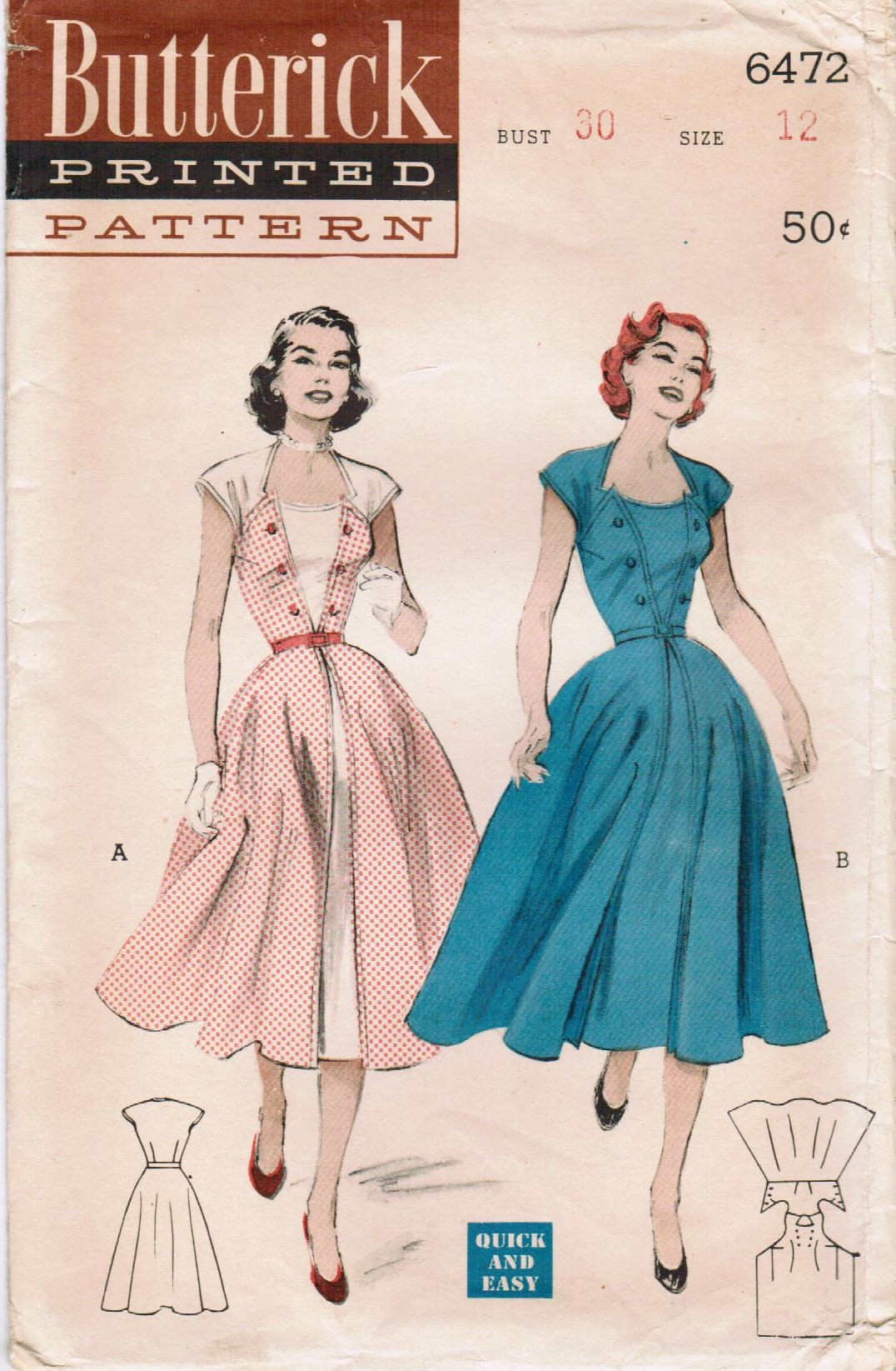 Butterick 6472 | Vintage Sewing Patterns | FANDOM powered by Wikia