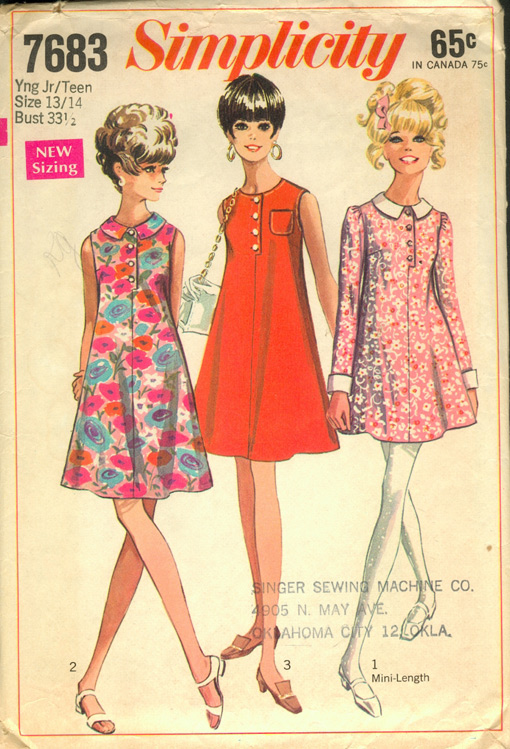 Simplicity 7683; 1968; This Pattern has the New Narrow Shoulder and