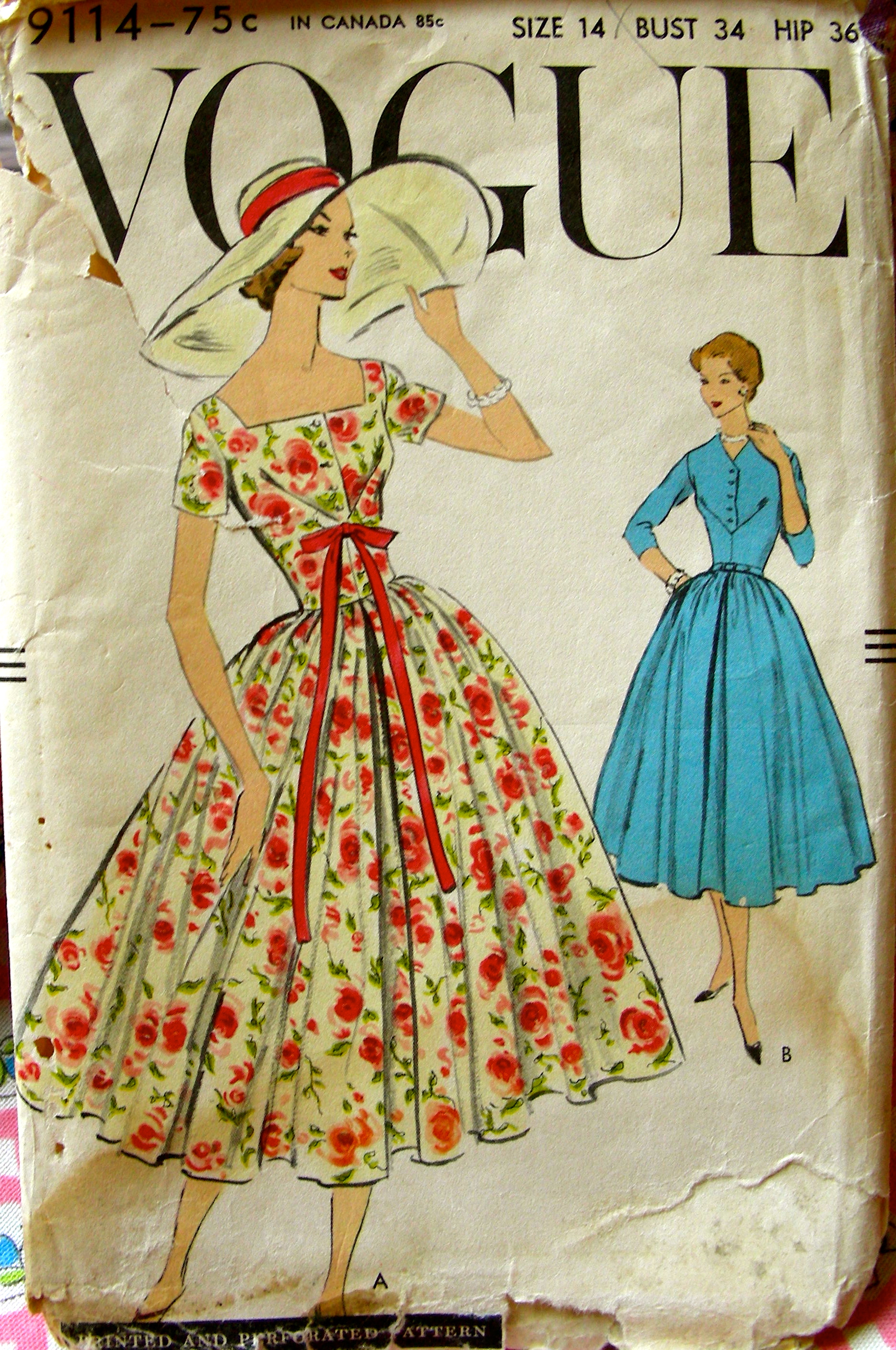Vogue 9114 Vintage Sewing Patterns Fandom Powered By Wikia