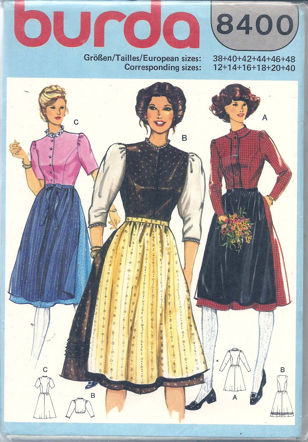 Burda 8400 | Vintage Sewing Patterns | FANDOM powered by Wikia