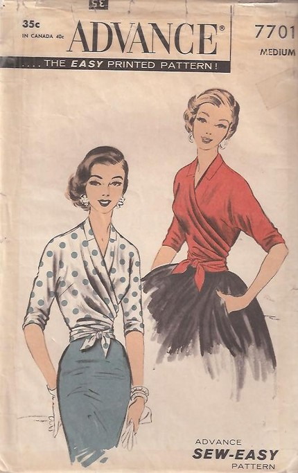 Advance 7701 | Vintage Sewing Patterns | FANDOM powered by Wikia