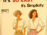 Simplicity 9821 B