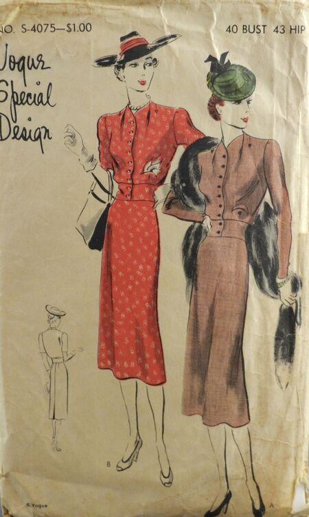 Vogue S 4075 Dress Frock 1