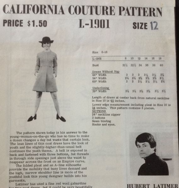 California Couture L-1901 | Vintage Sewing Patterns | FANDOM powered ...