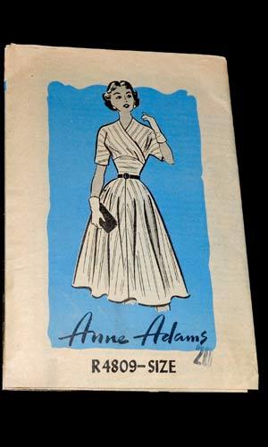 Vop-1464-01-Anne-Adams-R4809-vintage-dress-sewing-pattern