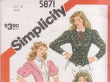 Simplicity 5871 A