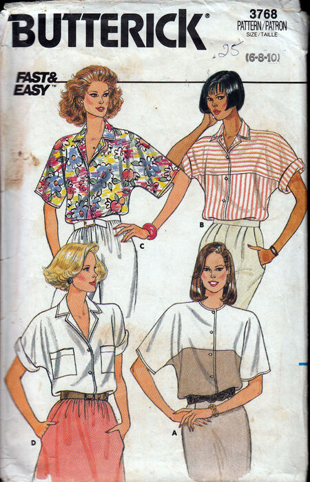 Vintage Sewing Patterns 1980s Blouses Penelope Rose at Artfire