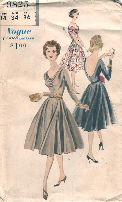 Vogue 9825 | Vintage Sewing Patterns | FANDOM powered by Wikia
