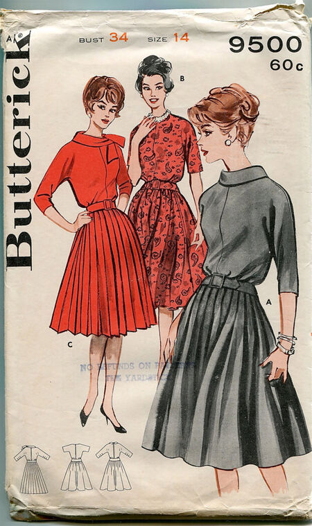 Butterick 9500 at Design REwind Fashions on Etsy a