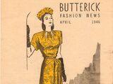 Butterick Fashion News April 1946