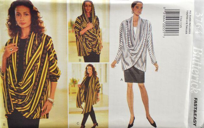 Butterick 3764 Misses' Jacket Skirt Pants 1