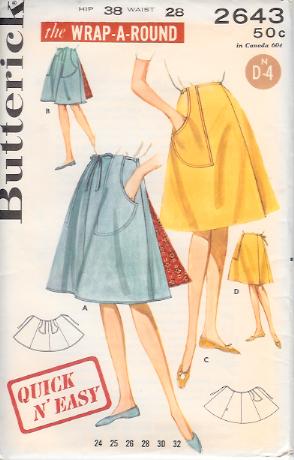 2643B 1960s Skirt