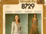 Simplicity 8729 A