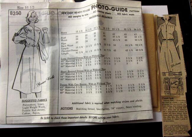 Vintage Mail Order Pattern 8250