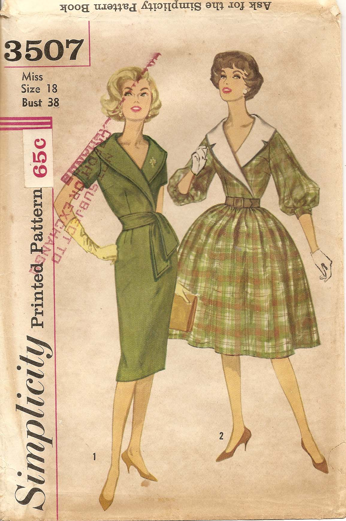 Simplicity 3507 a vintage sewing patterns fandom powered by wikia sim3507a jeuxipadfo Gallery