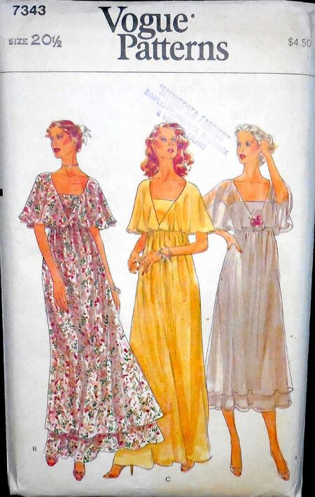 Vogue 70s gown 7343 a small