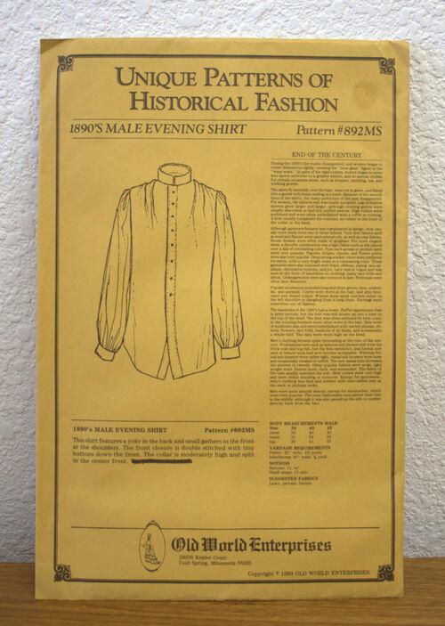 7-58 Shirt Pattern 1d
