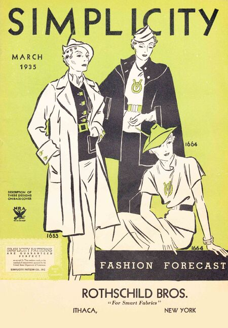 Simplicity Fashion Forecast March 1935