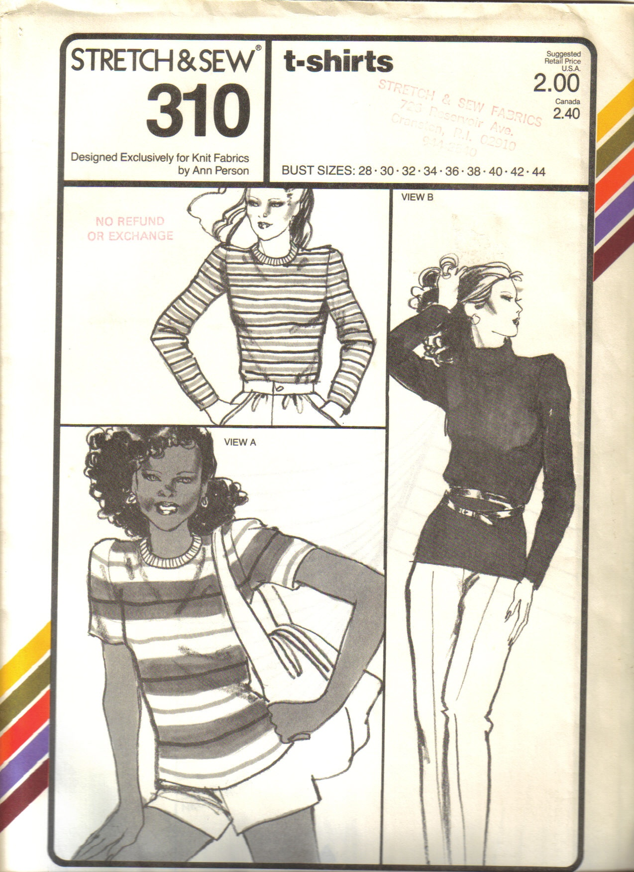 Stretch & Sew 310 | Vintage Sewing Patterns | FANDOM powered by Wikia