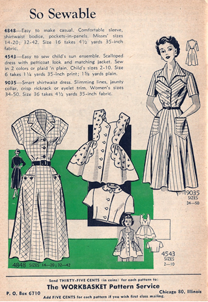 Mail Order 4848 4543 9035 Sewing Pattern