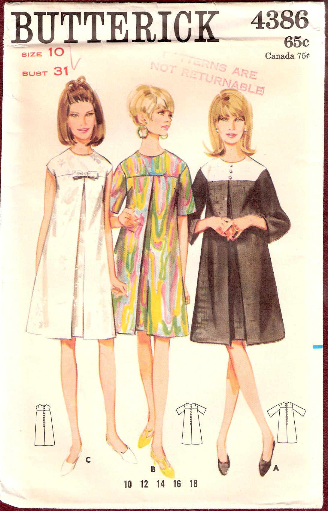 butterick 4386 vintage sewing patterns fandom powered