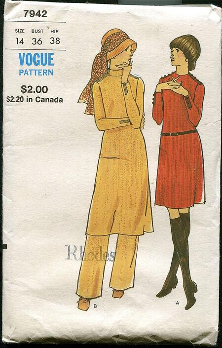 Vogue 7942 at design rewind fashions on Etsy