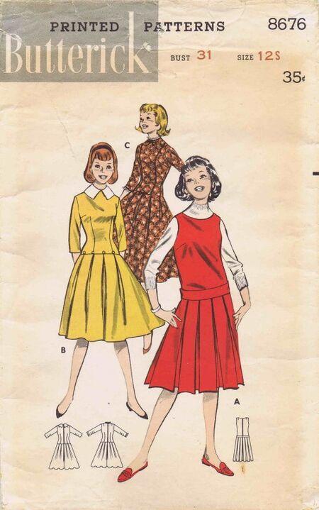 Butterick 1958 8676