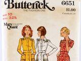Butterick 6651 A