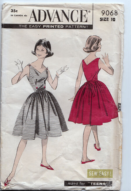 Vintage 1950s dress pattern Penelope Rose (17)