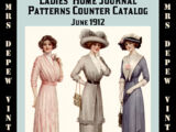 Ladies Home Journal Patterns Counter Catalog Summer 1912