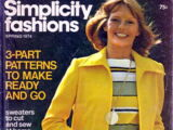 Simplicity Fashions Spring 1974