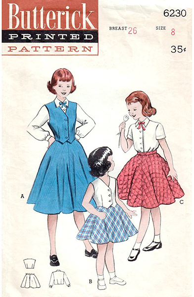 Butterick 6230 girls vintage pattern