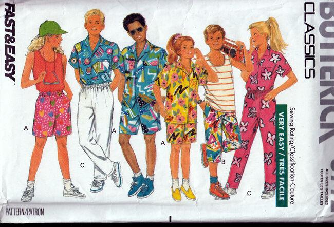 Vintage Sewing Patterns Girls or Boys Separates Penelope Rose at Artfire