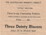 Australian Women's Weekly Free Pattern 24 April 1943
