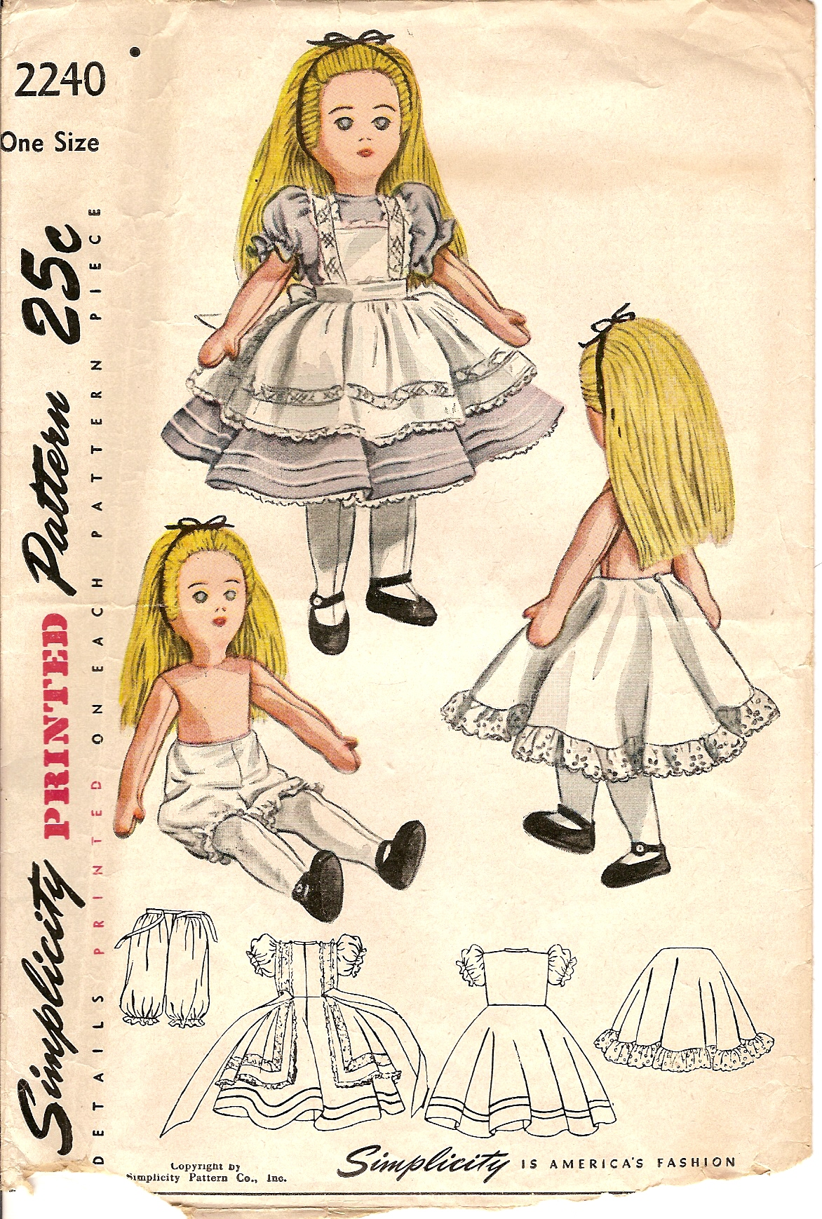 Simplicity 2240 A | Vintage Sewing Patterns | FANDOM powered by Wikia